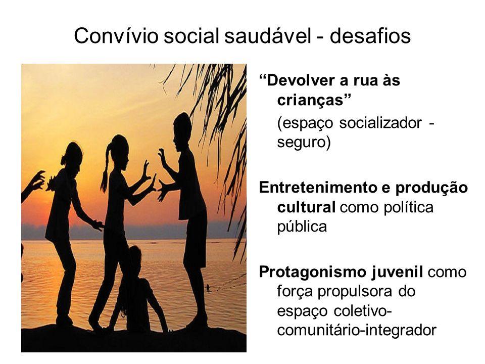Convívio social saudável - desafios