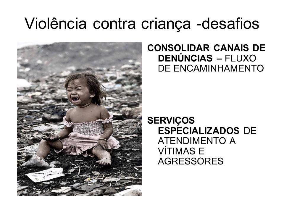 Violência contra criança -desafios