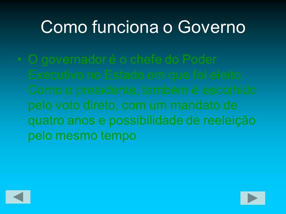Como funciona o Governo