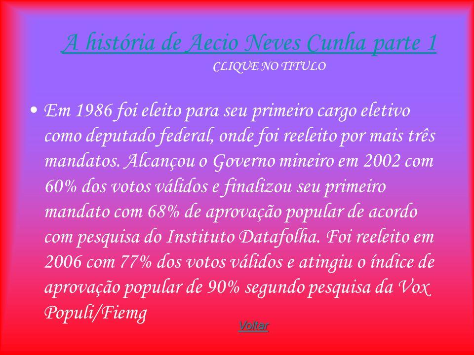 A história de Aecio Neves Cunha parte 1 CLIQUE NO TITULO