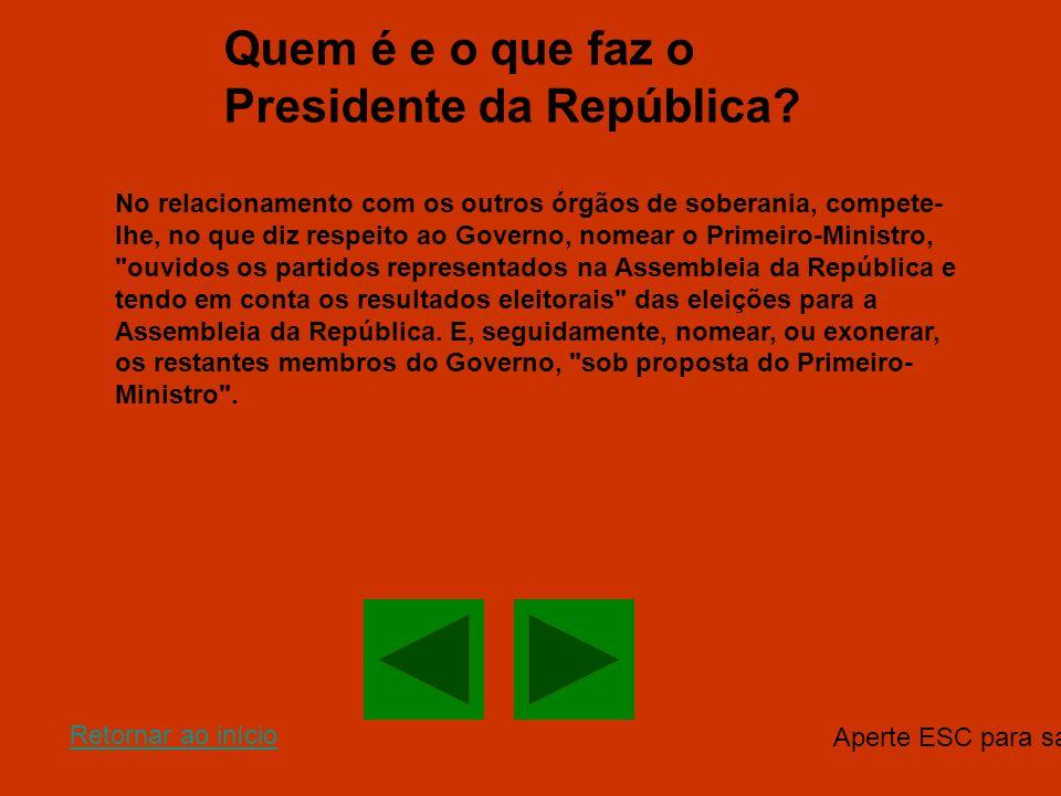 Quem é e o que faz o Presidente da República