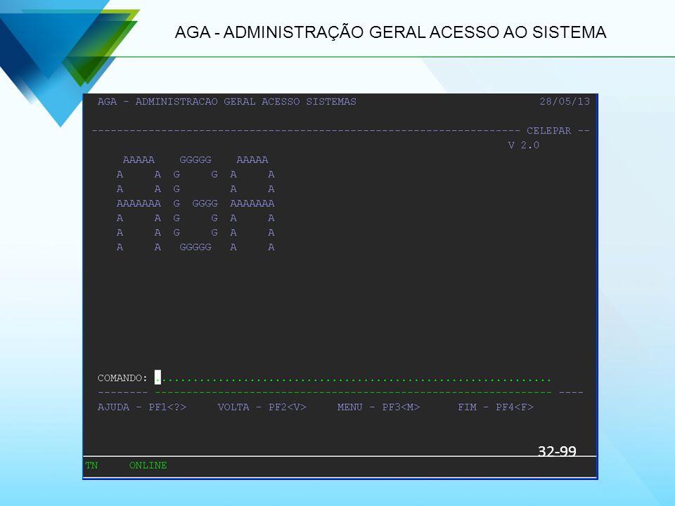 AGA - ADMINISTRAÇÃO GERAL ACESSO AO SISTEMA