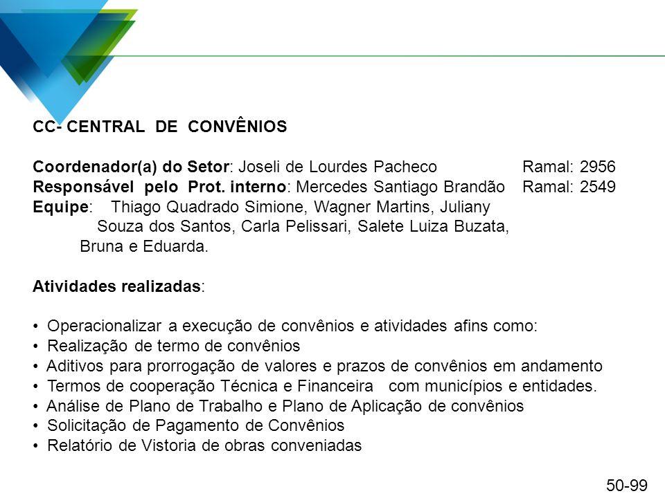 CC- CENTRAL DE CONVÊNIOS