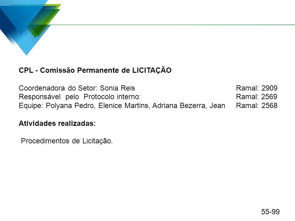 CPL - Comissão Permanente de LICITAÇÃO