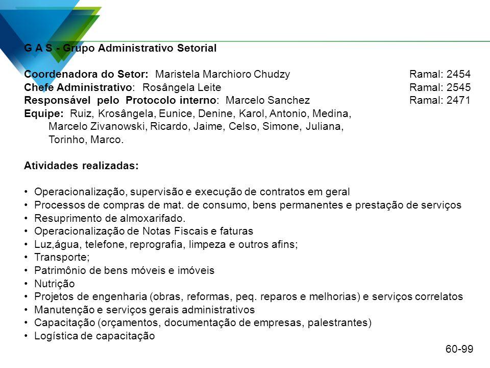 G A S - Grupo Administrativo Setorial