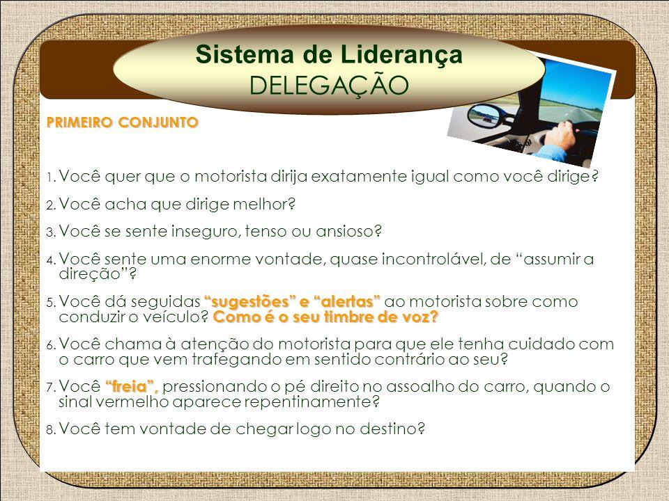 Delegação Sistema de Liderança DELEGAÇÃO