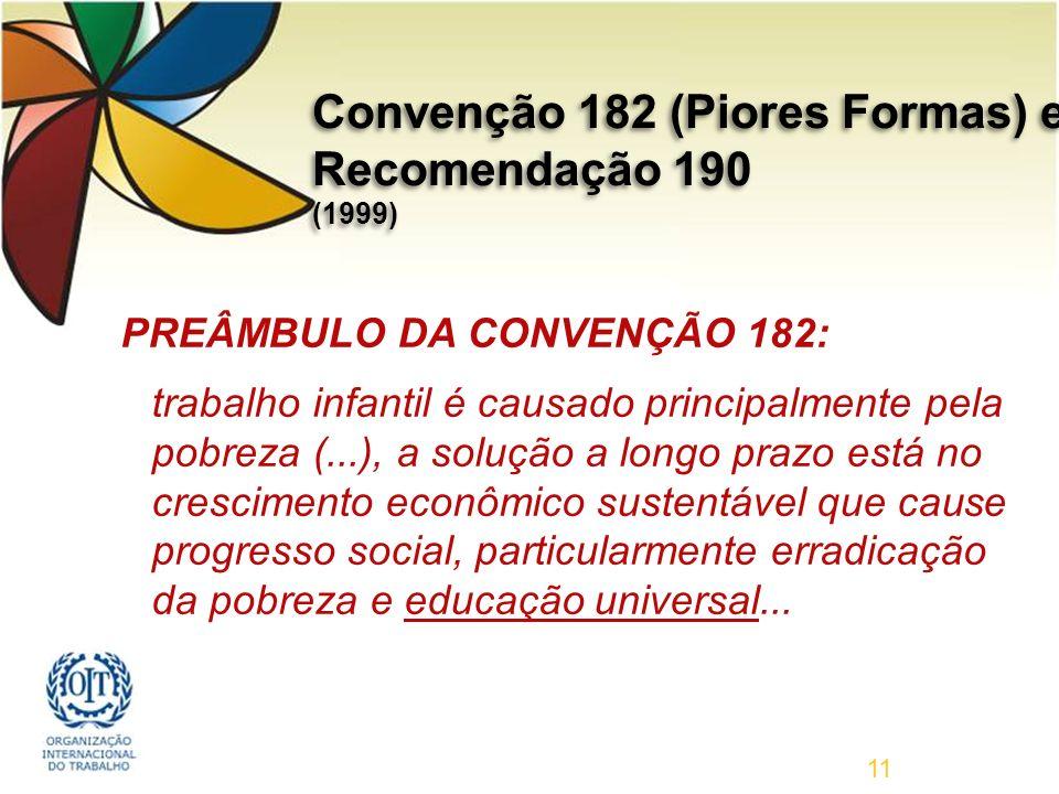 Convenção 182 (Piores Formas) e Recomendação 190 (1999)
