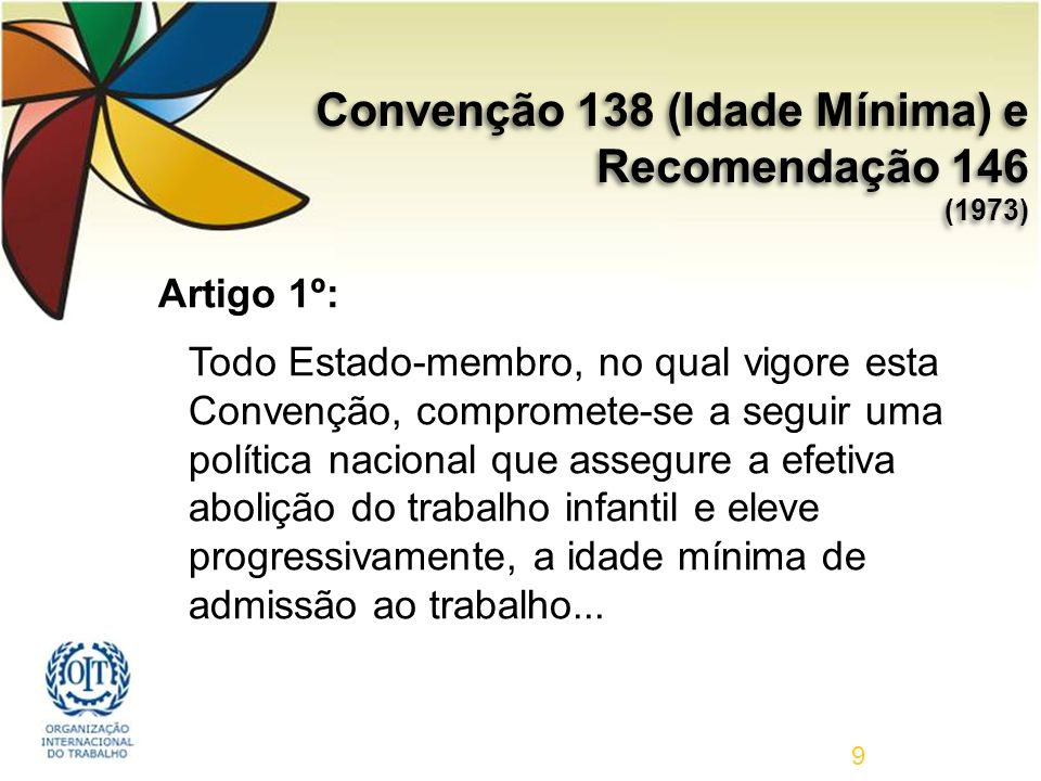 Convenção 138 (Idade Mínima) e Recomendação 146 (1973)