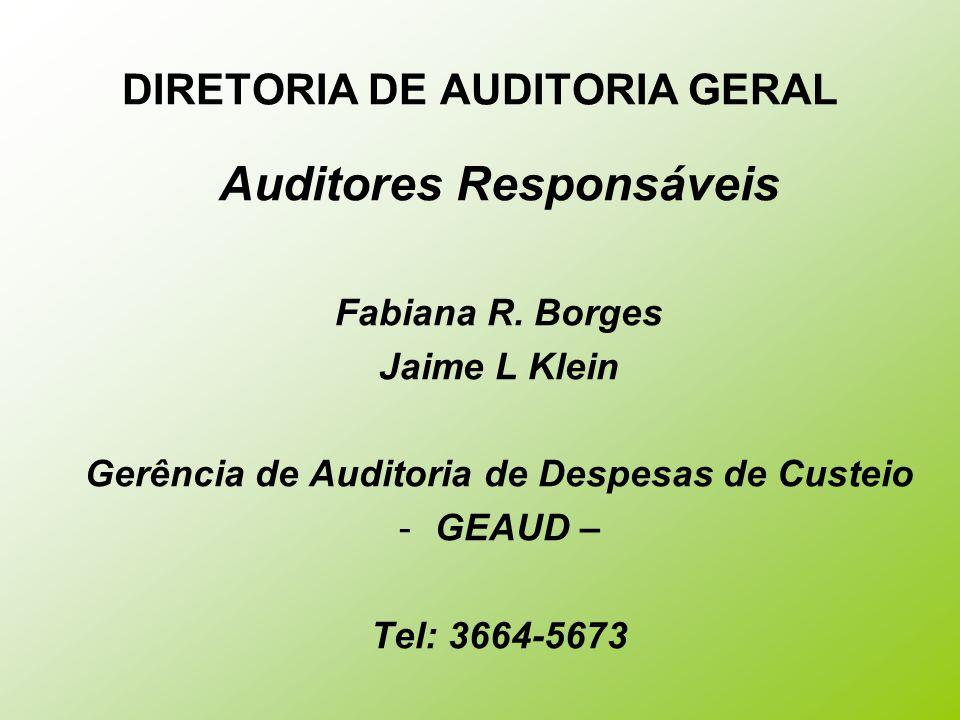 DIRETORIA DE AUDITORIA GERAL