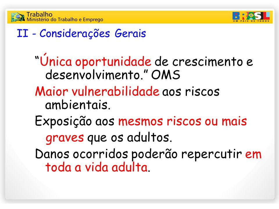 II - Considerações Gerais