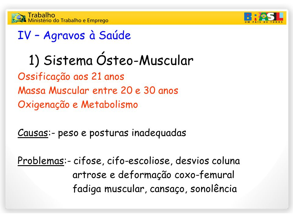 1) Sistema Ósteo-Muscular