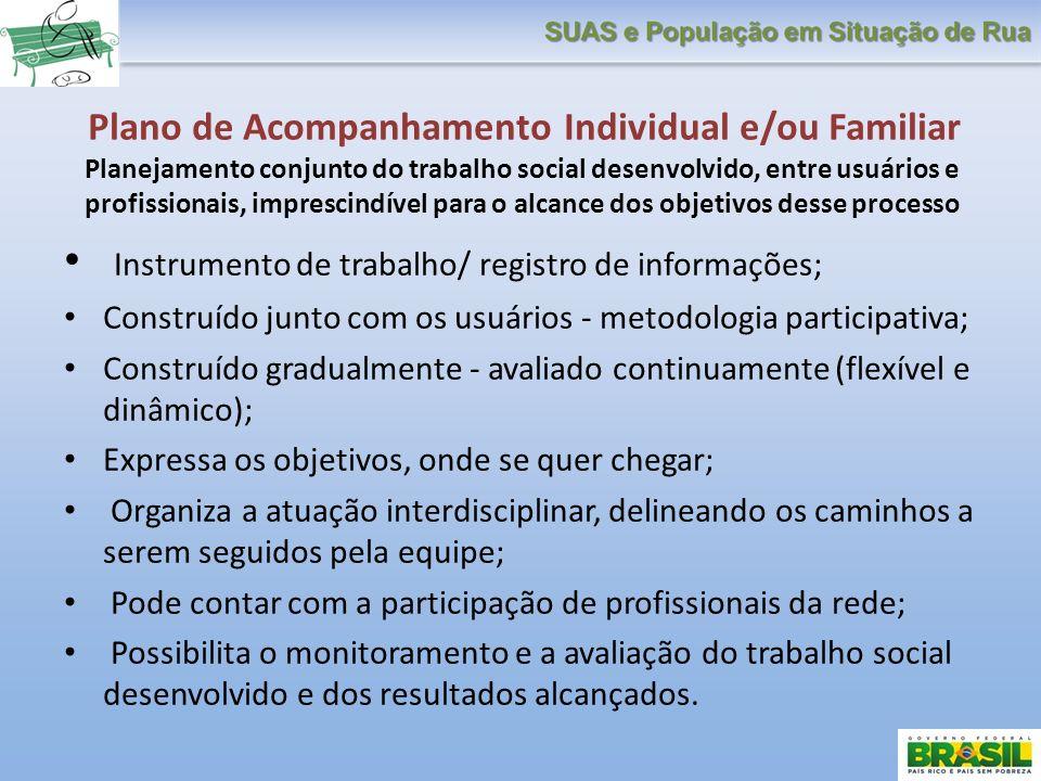 Instrumento de trabalho/ registro de informações;