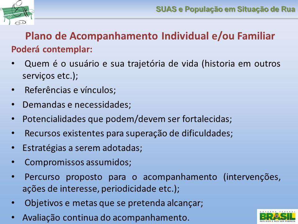 Plano de Acompanhamento Individual e/ou Familiar