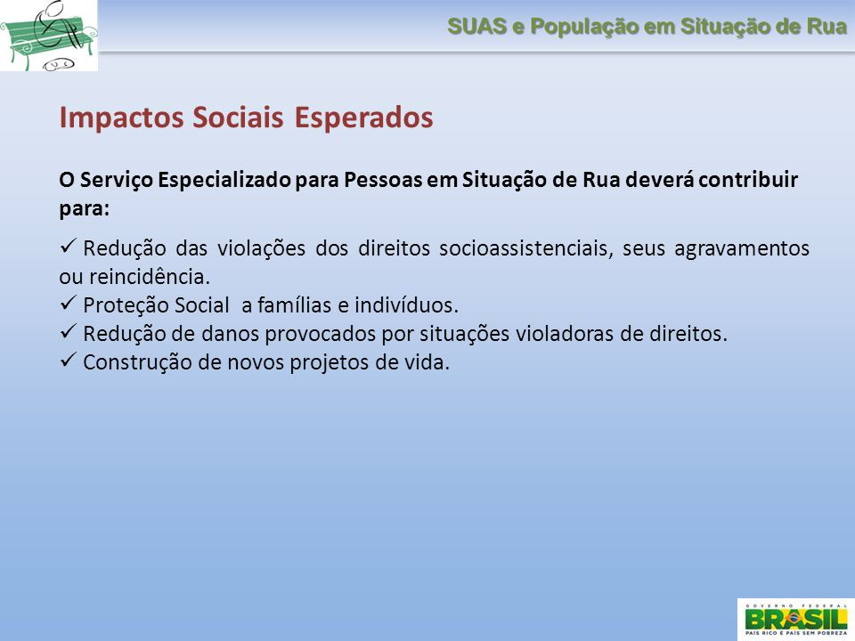 Impactos Sociais Esperados