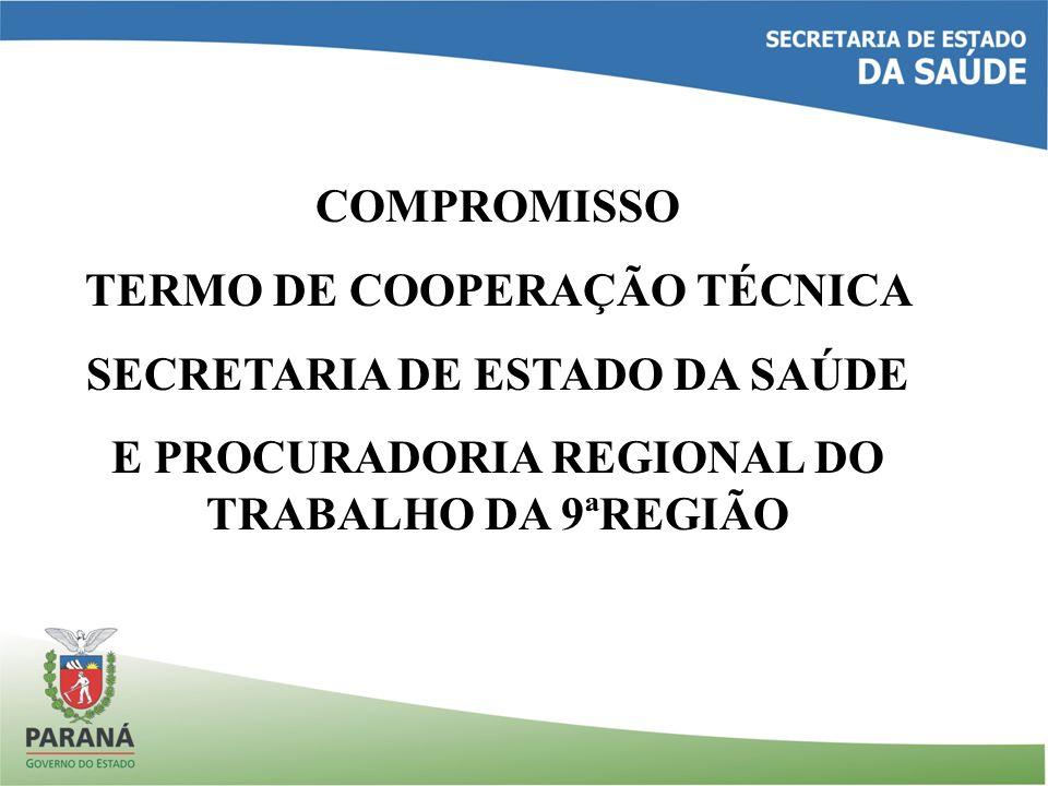 TERMO DE COOPERAÇÃO TÉCNICA SECRETARIA DE ESTADO DA SAÚDE