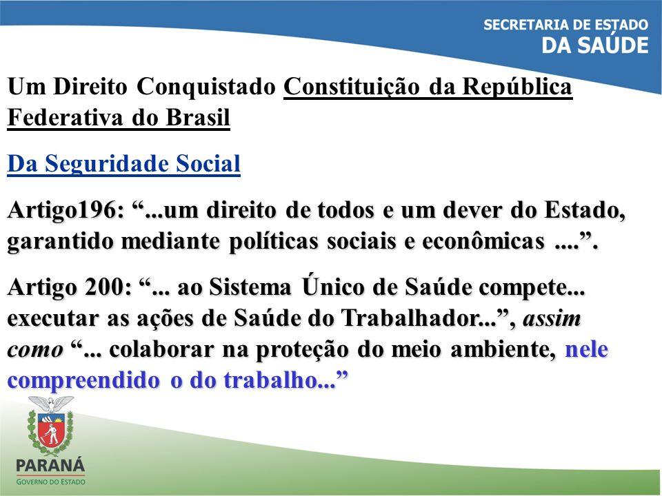 Um Direito Conquistado Constituição da República Federativa do Brasil