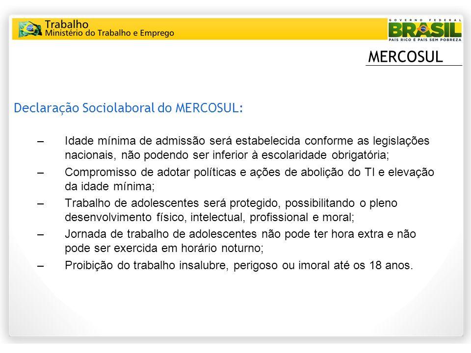 MERCOSUL Declaração Sociolaboral do MERCOSUL: