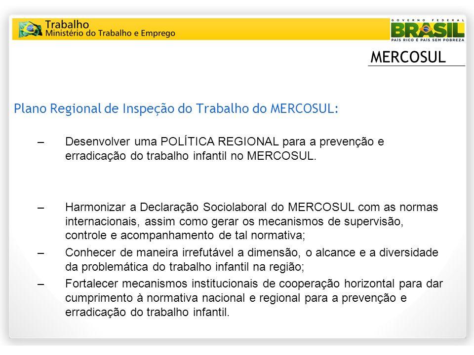 MERCOSUL Plano Regional de Inspeção do Trabalho do MERCOSUL: