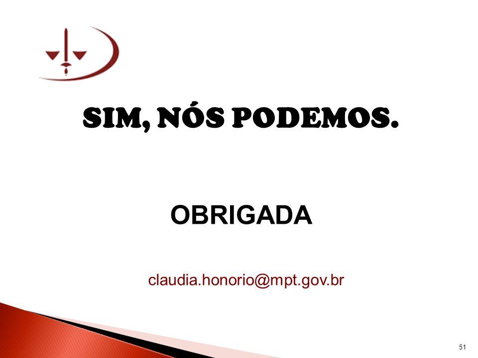 SIM, NÓS PODEMOS. OBRIGADA claudia.honorio@mpt.gov.br