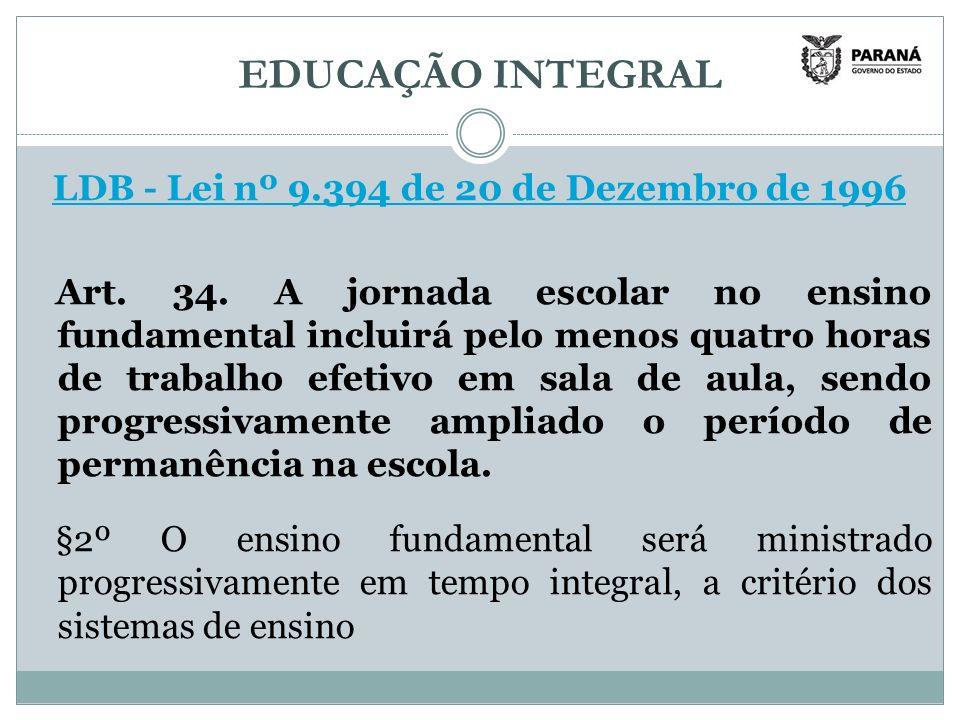 LDB - Lei nº 9.394 de 20 de Dezembro de 1996