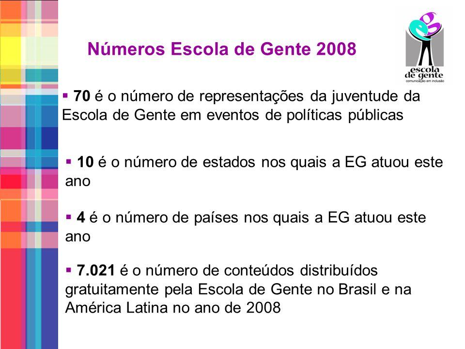 Números Escola de Gente 2008