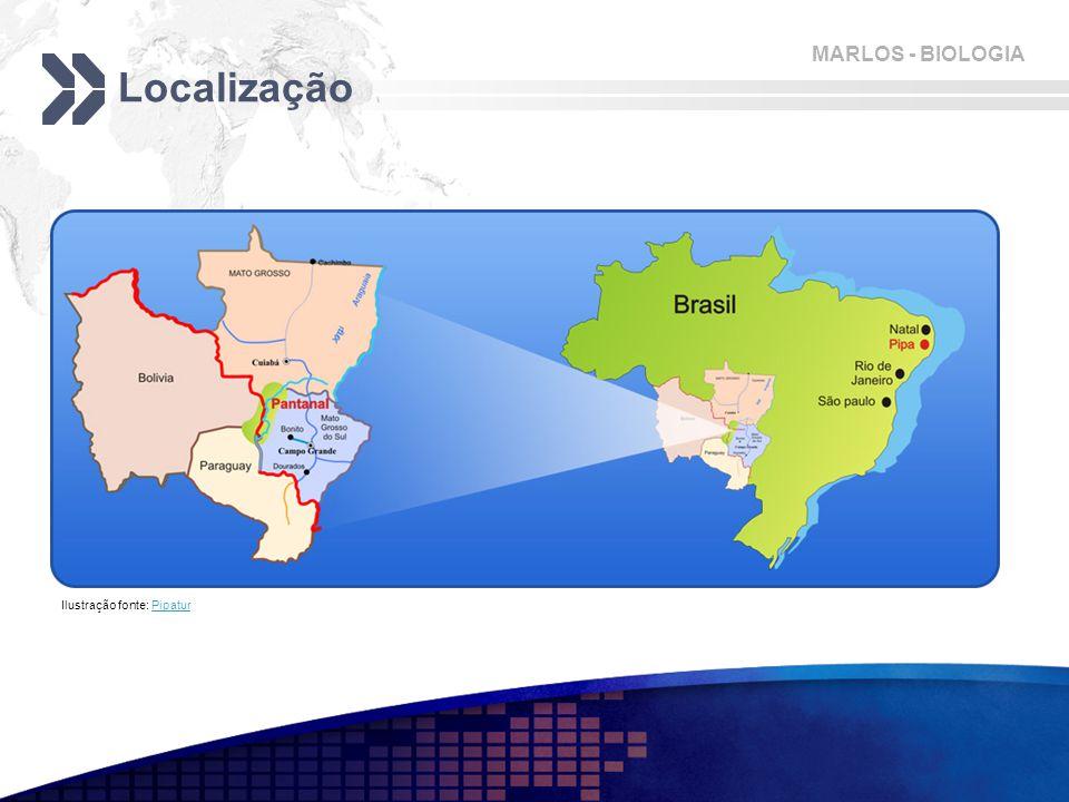 Localização Ilustração fonte: Pipatur