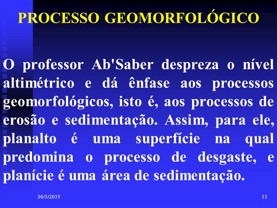 PROCESSO GEOMORFOLÓGICO