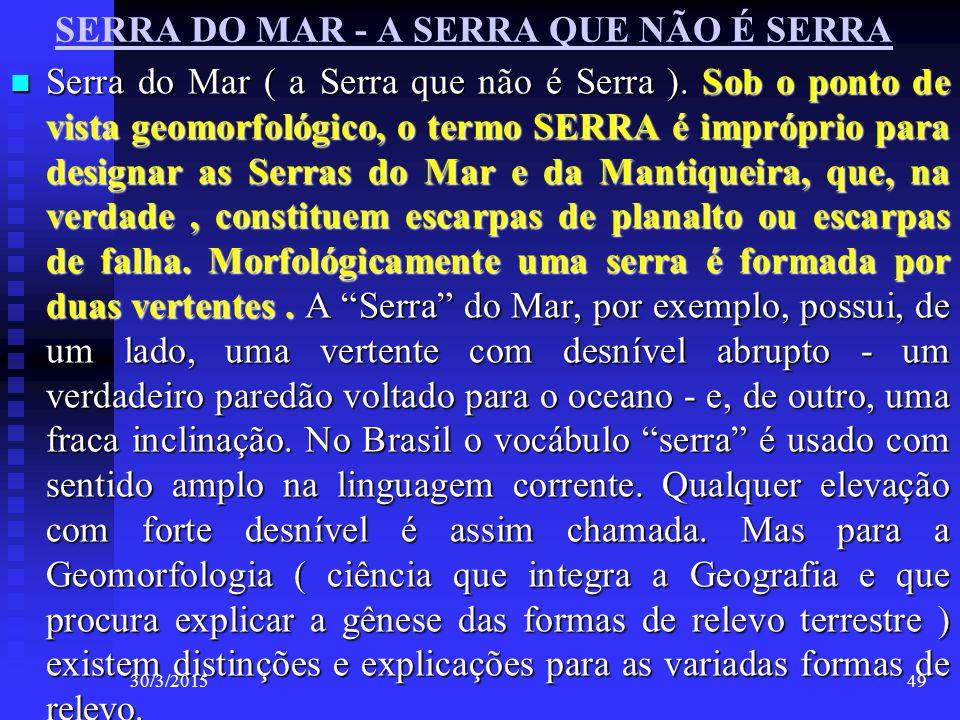 SERRA DO MAR - A SERRA QUE NÃO É SERRA