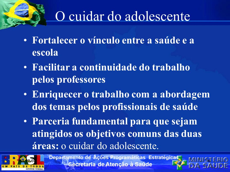 O cuidar do adolescente