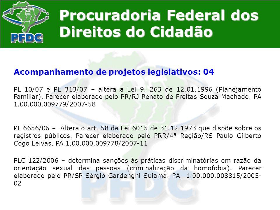 Acompanhamento de projetos legislativos: 04
