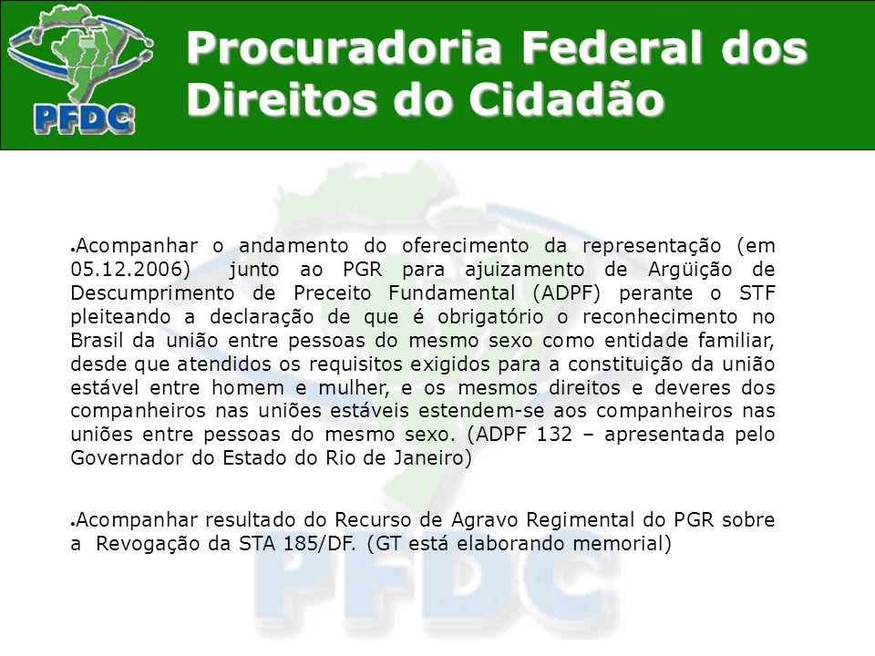 Acompanhar o andamento do oferecimento da representação (em 05. 12