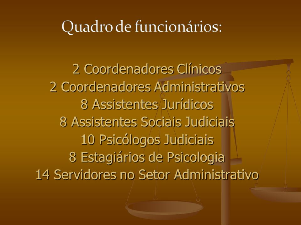 2 Coordenadores Clínicos 2 Coordenadores Administrativos