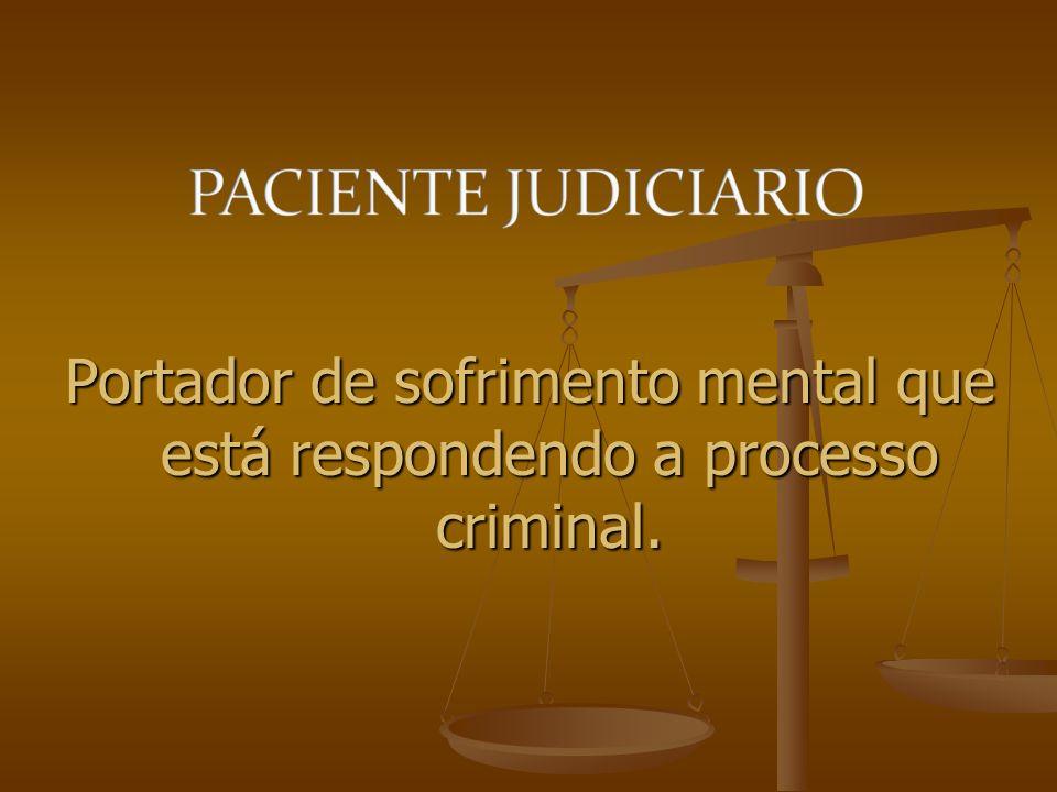 Portador de sofrimento mental que está respondendo a processo criminal.