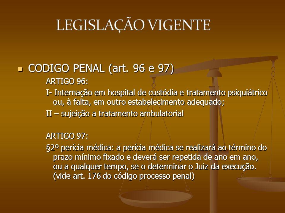 CODIGO PENAL (art. 96 e 97) ARTIGO 96: