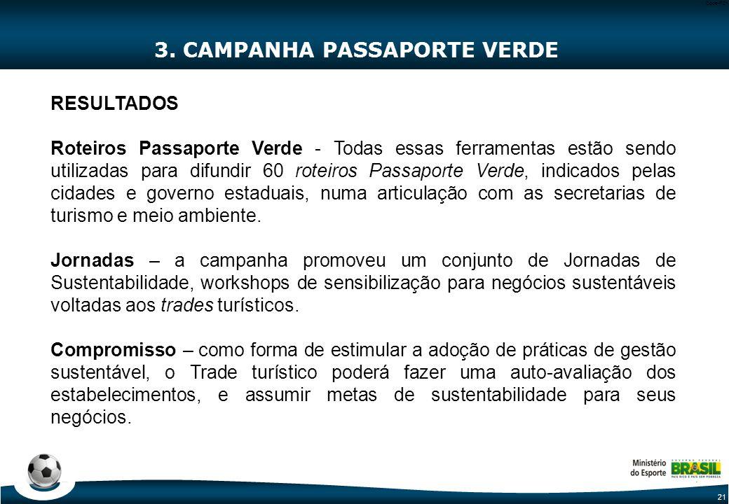 3. CAMPANHA PASSAPORTE VERDE