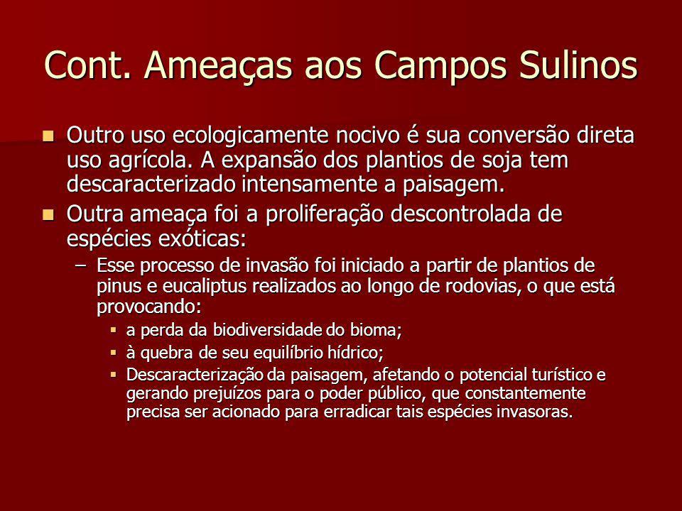 Cont. Ameaças aos Campos Sulinos