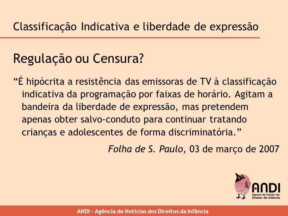 Classificação Indicativa e liberdade de expressão