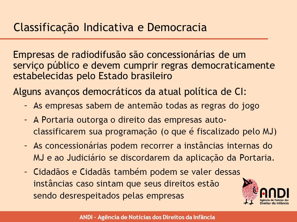 Classificação Indicativa e Democracia