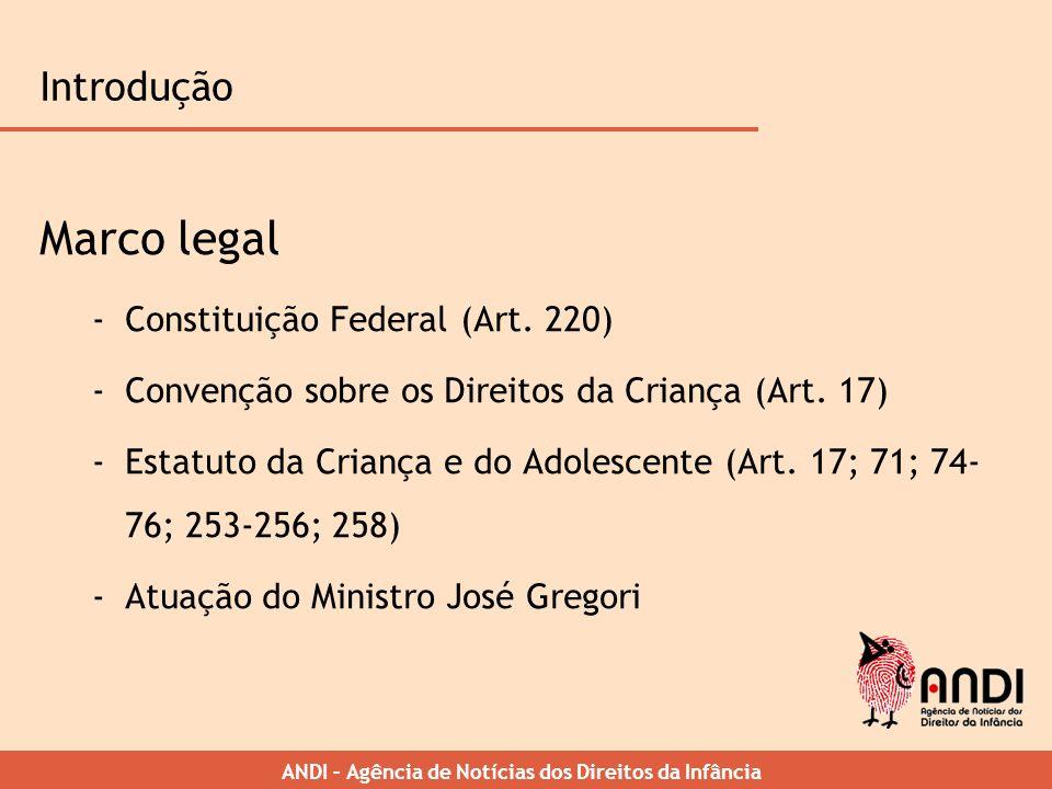 Marco legal Introdução Constituição Federal (Art. 220)