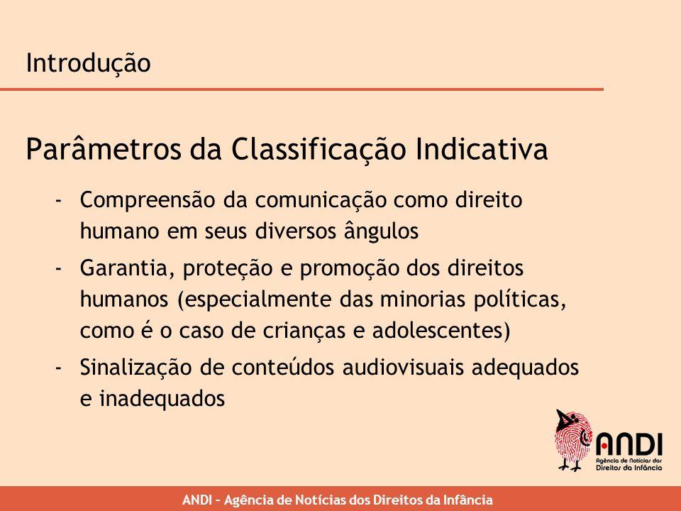 Parâmetros da Classificação Indicativa