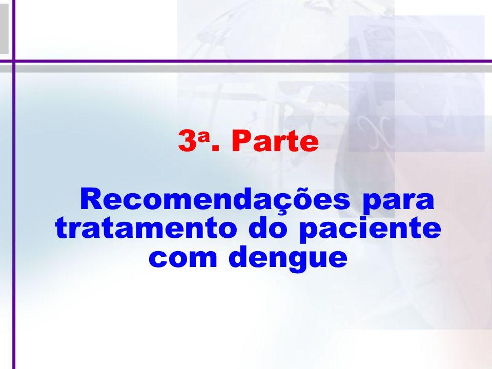 3a. Parte Recomendações para tratamento do paciente com dengue