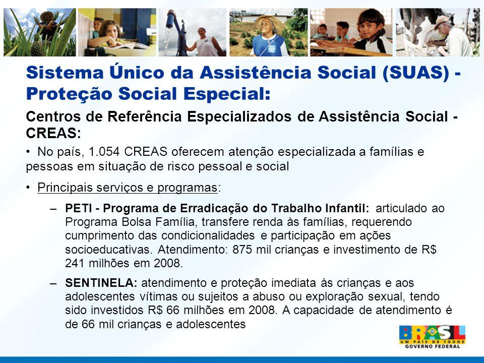 Sistema Único da Assistência Social (SUAS) - Proteção Social Especial: