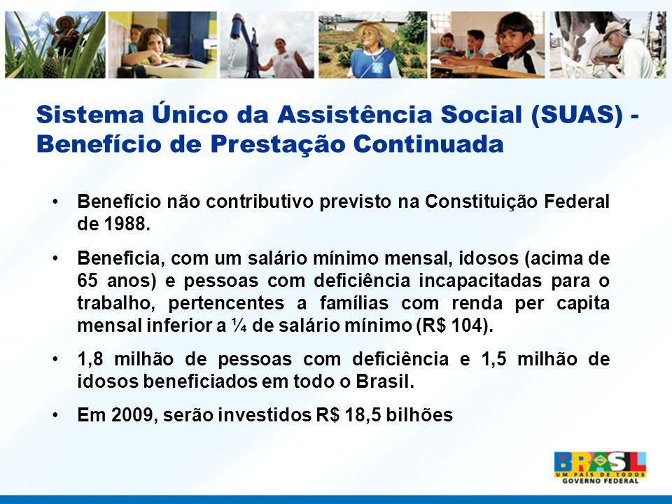 Sistema Único da Assistência Social (SUAS) -Benefício de Prestação Continuada