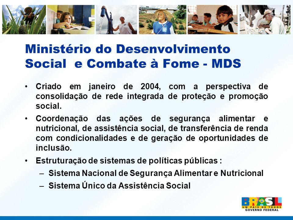 Ministério do Desenvolvimento Social e Combate à Fome - MDS