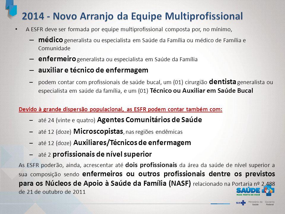 2014 - Novo Arranjo da Equipe Multiprofissional