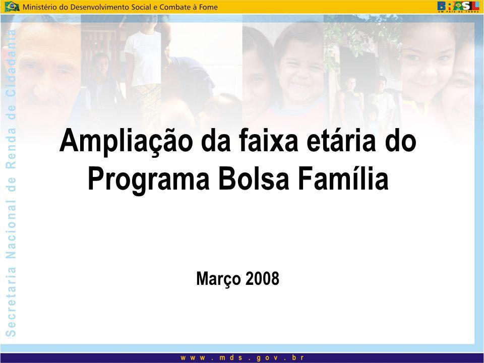 Ampliação da faixa etária do Programa Bolsa Família