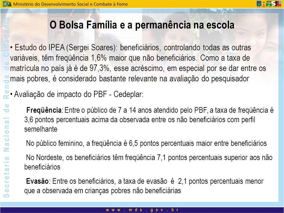 O Bolsa Família e a permanência na escola