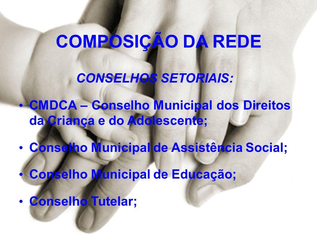 COMPOSIÇÃO DA REDE CONSELHOS SETORIAIS: