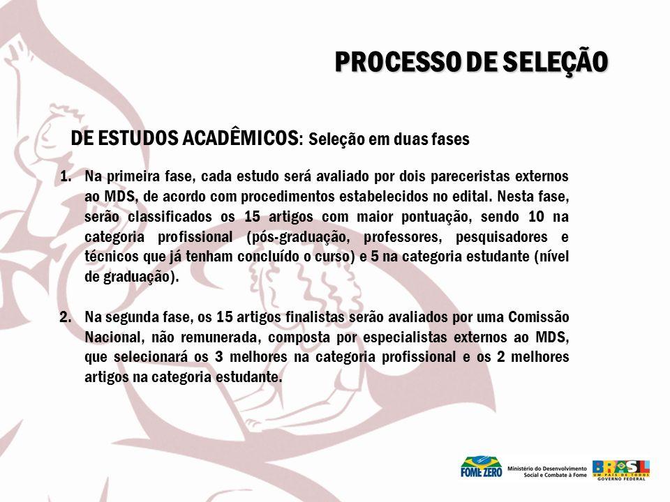 PROCESSO DE SELEÇÃO DE ESTUDOS ACADÊMICOS: Seleção em duas fases