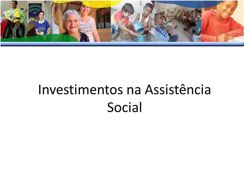 Investimentos na Assistência Social
